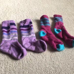 Girls m/l smart wool hiking socks